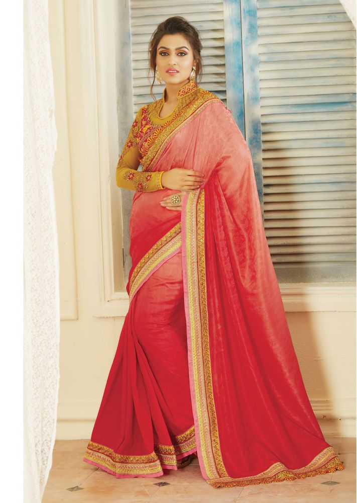 Designer Saree Sari Traditional Indian Bollywood Party Evening Bridal Ethnic #NA #Sari