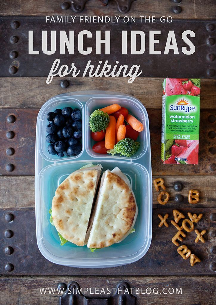 Family friendly on-the-go lunch ideas for Hiking | packed with @EasyLunchboxes containers