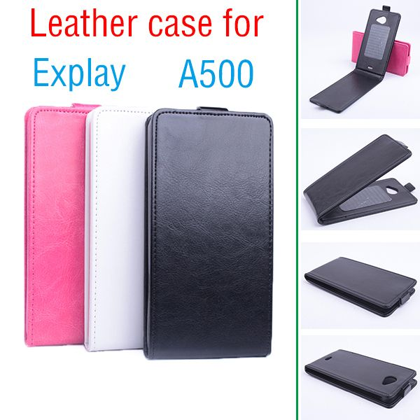 For Explay A500 Business Protective Leather Skin Flip Vertical Case On For Explay A 500 Luxurty Tough Front And Back Proof Cover