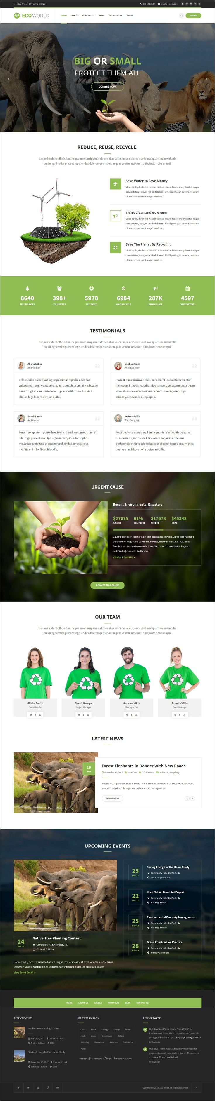 Eco World is a wonderful responsive #WordPress theme for #environment protection companies or #nonprofit organizations website download now➩ https://themeforest.net/item/eco-world-nature-ecology-ngo-wordpress-theme/18967402?ref=Datasata
