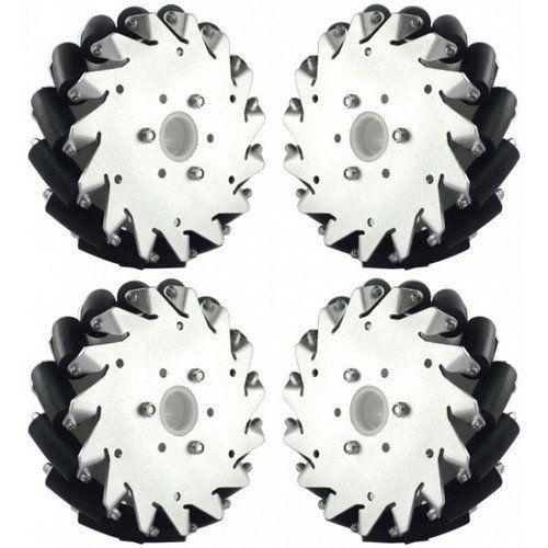 152Mm Aluminum Mecanum Wheel Set (2X Left, 2X Right)
