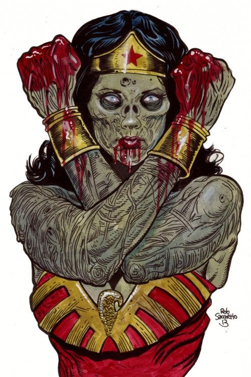 Zombie Wonder Woman by Rob Sacchetto