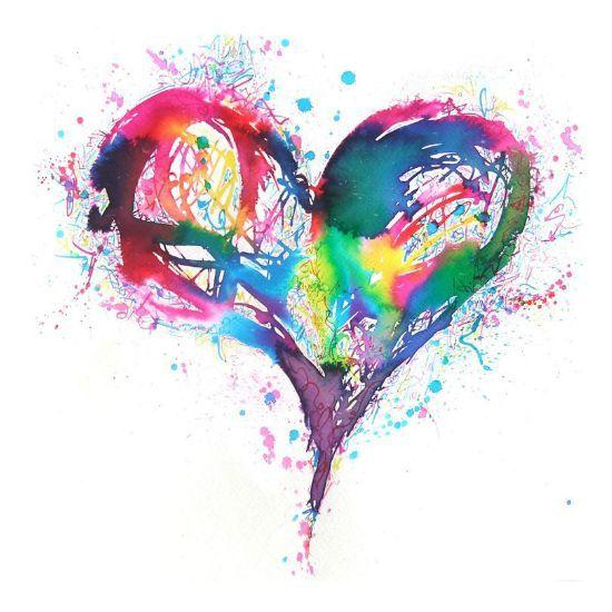 Tijdelijke Tattoo aquarel hart hart blauw door PolkaDotzDesigns