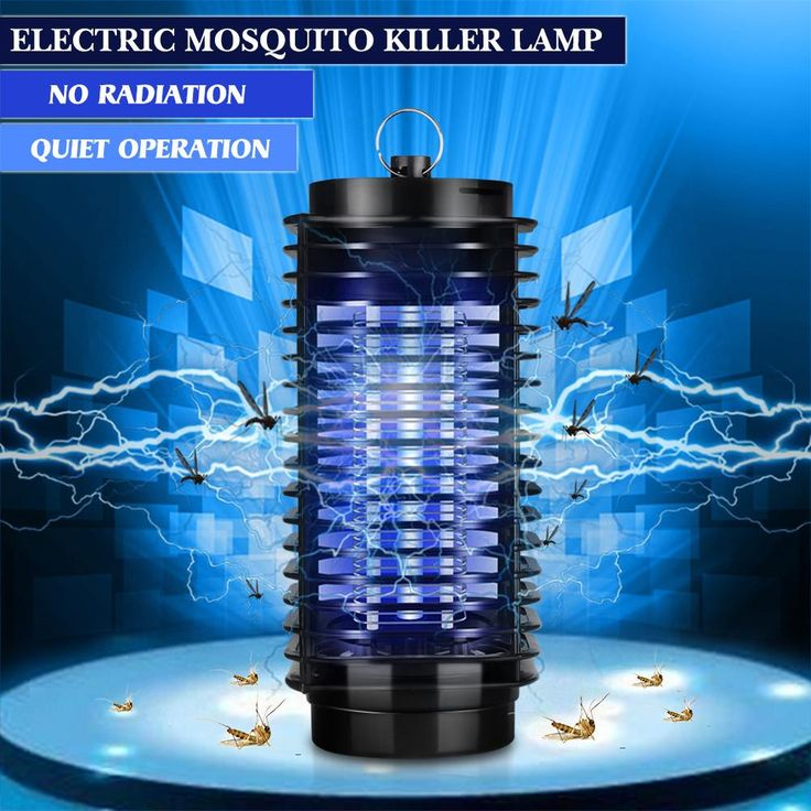 110-220V EU Plug Electric Mosquito Killer Lamp Insect Pest Bug Zapper Repeller Purple Night Light No Radiation
