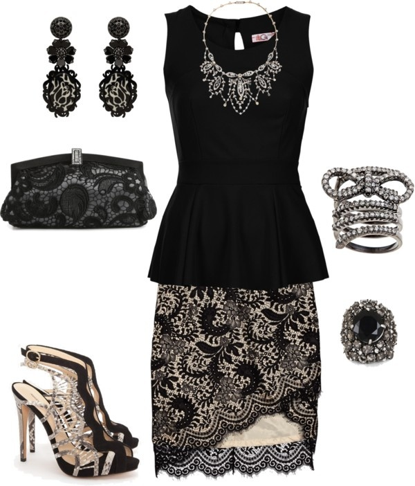 """""""Lacy Evening"""" by nancyell on Polyvore"""