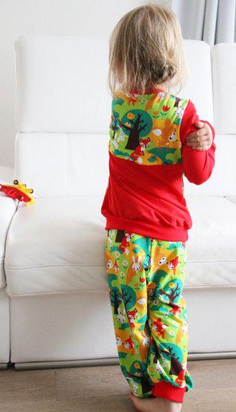 Dětské bavlněné pyžámko se zvířátky / Pajamas for my little girl / Lillestoff