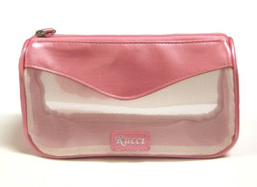 Rucci Cosmetic Bag, Clutch Pink by Rucci. $8.99. Mesh cosmetic bag. Great for travel. Cosmetic bag. Rucci is a leading manufacturer and importer of high quality beauty products across the united states and the world. rucci has been satisfying its customers with its fast and exceptional service for over twenty years. clutch pink cosmetic bag.