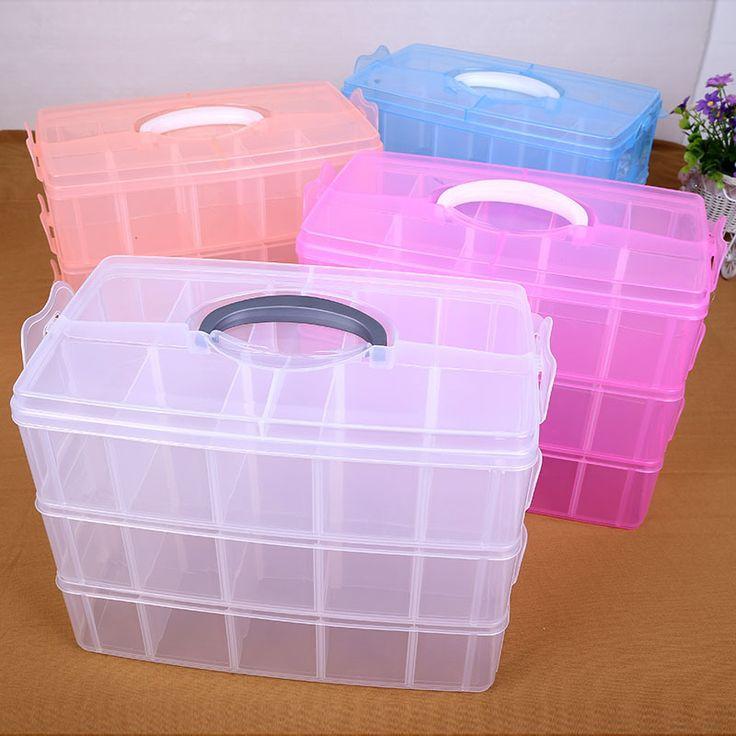 ==> [Free Shipping] Buy Best Storage Box Plastic Box Caixa organizadora Storage Cajas organizadoras Boite de rangement Three layers 30 grid transparent Boxes Online with LOWEST Price | 32680953361