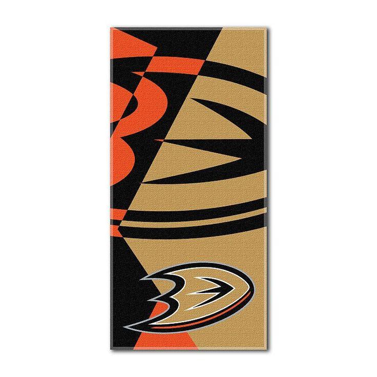 Anaheim Ducks Puzzle Oversize Beach Towel by Northwest, Multicolor