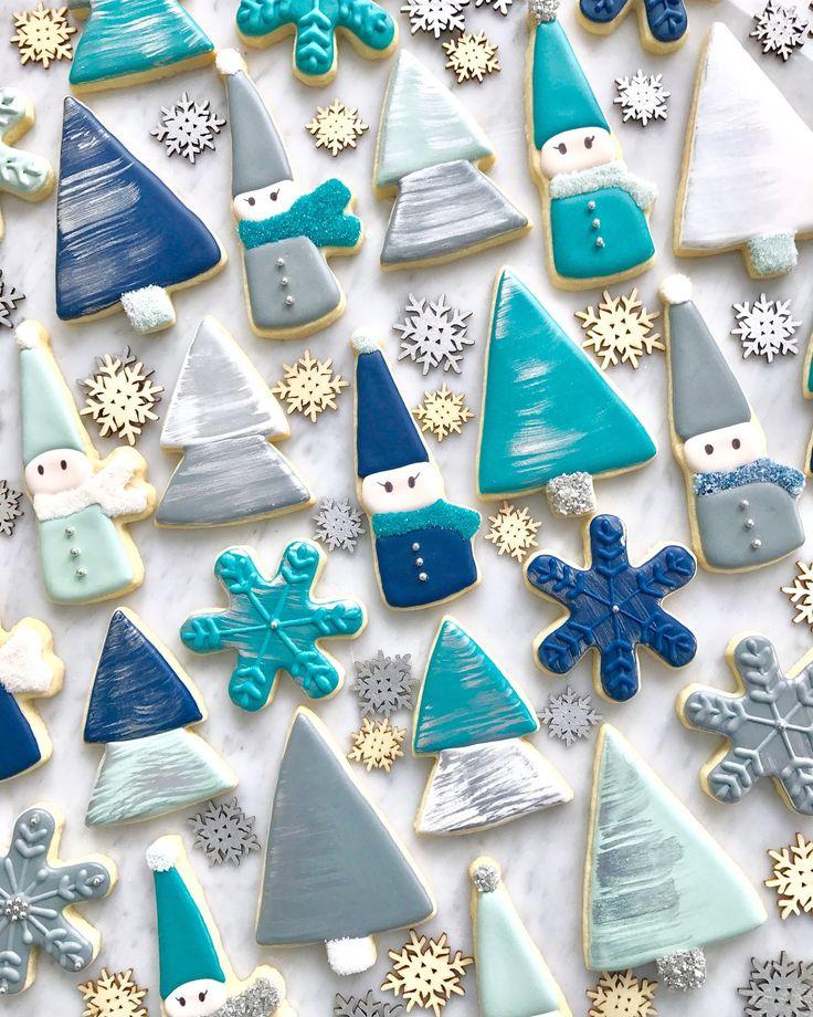 Modern Scandinavian winter cookies