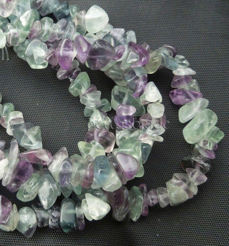 100 Mixed Fluorite Semi Precious Jewellery Making Gemstone Crystal Chip Beads  #Unbranded