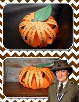 JULIETTE GORDON LOW PUMPKIN BIOGRAPHY CRAFT {FREE!} GIRL SCOUT FOUNDER'S DAY - Perfect for Daisy or Brownie Scouts!