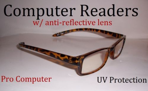 "3.25 COMPUTER READERS GLASSES ""EYE STRAIN"" 325 magnification"