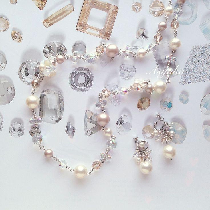 Asyuka Long necklace ・※*Swarovski Elements*※・