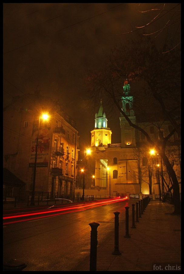 Cathedral and the Trinity Tower by night