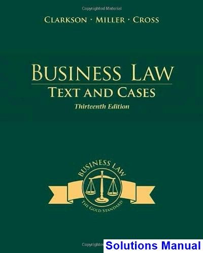 36 best solutions manual images on pinterest business law texts and cases 13th edition clarkson solutions manual test bank solutions manual fandeluxe Gallery