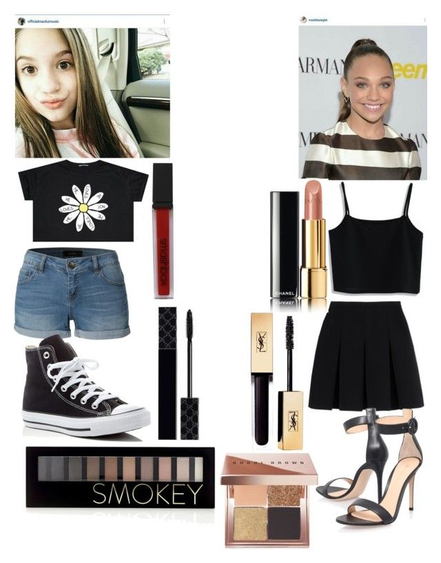 U0026quot;maddie and mackenzie ziegleru0026quot; by jblover123-253 liked on Polyvore featuring LE3NO Converse ...