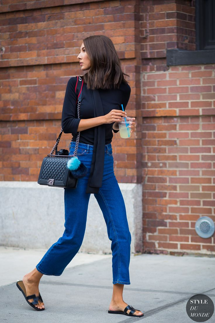 Street Style - cropped jeans & flats | by style du monde