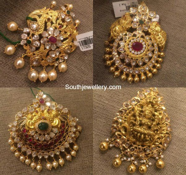 Antique Gold Pacchi Pendants Gold Pendent Gold Jewelry