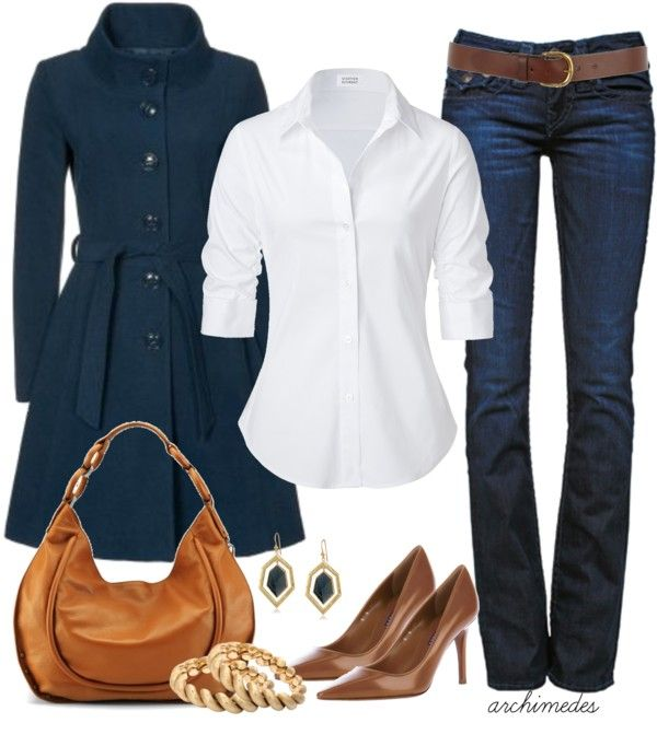 Classy outfit!: Casual Friday, Fashion, Style, Clothing, White Shirts, Jackets, Fall Outfits, Jeans, Coats