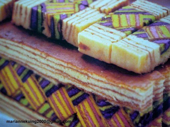 Triangle layered cake