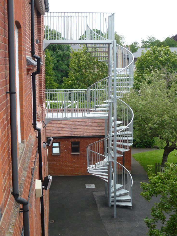external stainless steel fire stairs - Google Search