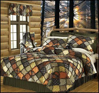 rag quilt camo | rag quilt to your bedroom decor. The Donna Sharp Woodland quilt ...