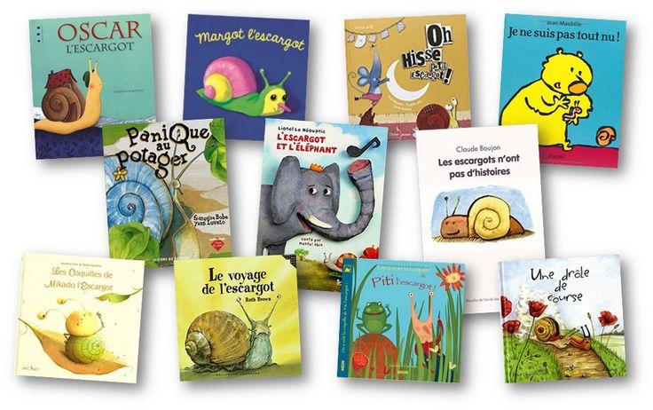 Ma sélection d'albums et exploitation sur le thème des escargots: Margot l'escargot, Le voyage de l'escargot, Panique au potager.. album escargot maternelle