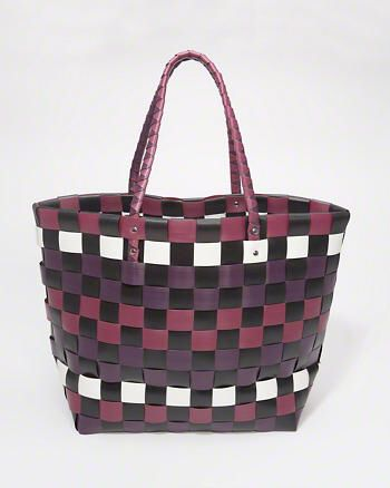 Woven Plastic Beach Tote Bag from Abercrombie & Fitch $38,00