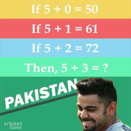 Quiz time and #ViratKohli does it in #style #IndvsPak