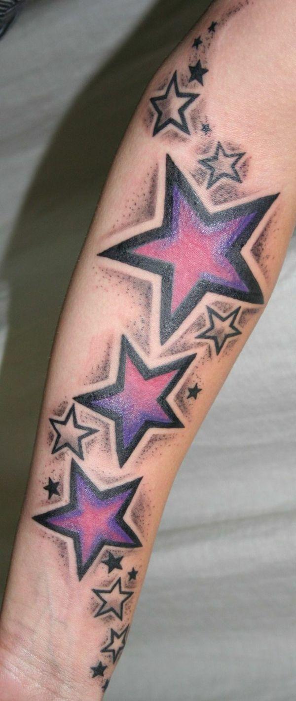 Tattoo Sterne 49 Einzigartige Trendy Ideen Für Tätowierungen
