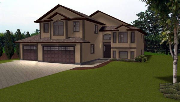 House plan 2004135 modified bi level home by Bi level house plans with garage