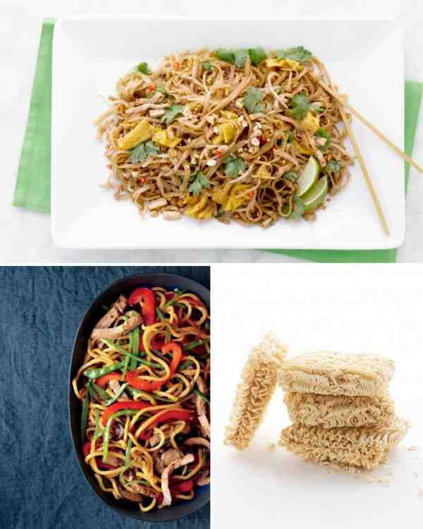 Asian noodle dishes