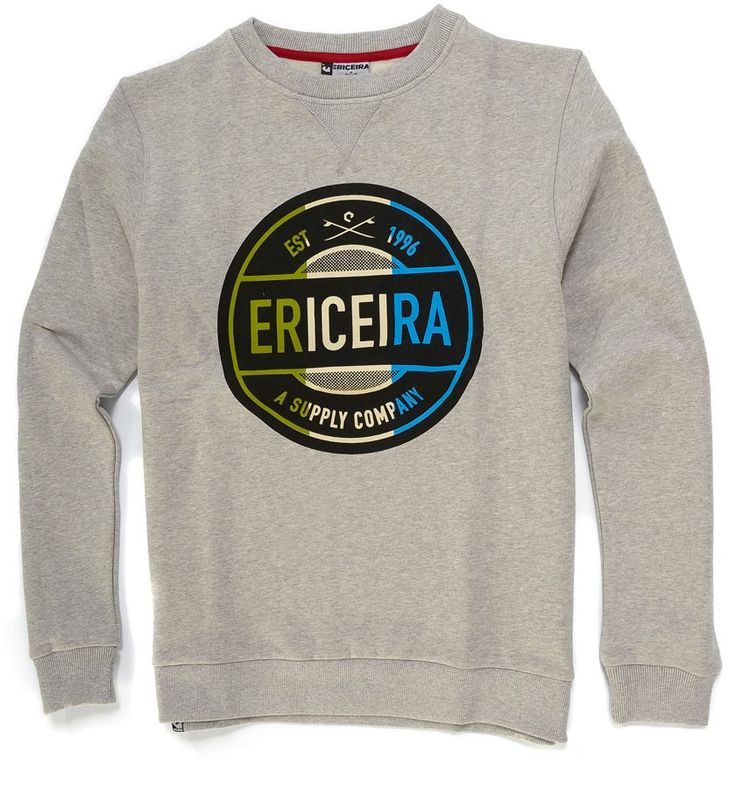 Sweat Básica Ericeira Surf & Skate WAX Grey Heather