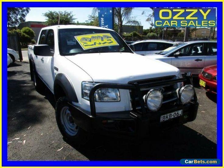 2008 Ford Ranger PJ 07 Upgrade XL (4x4) White Manual 5sp M Dual Cab Pick-up #ford #ranger #forsale #australia