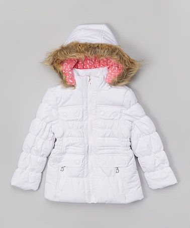 Dollhouse White Zip-Up Puffer Coat - Girls | Coats Infants and