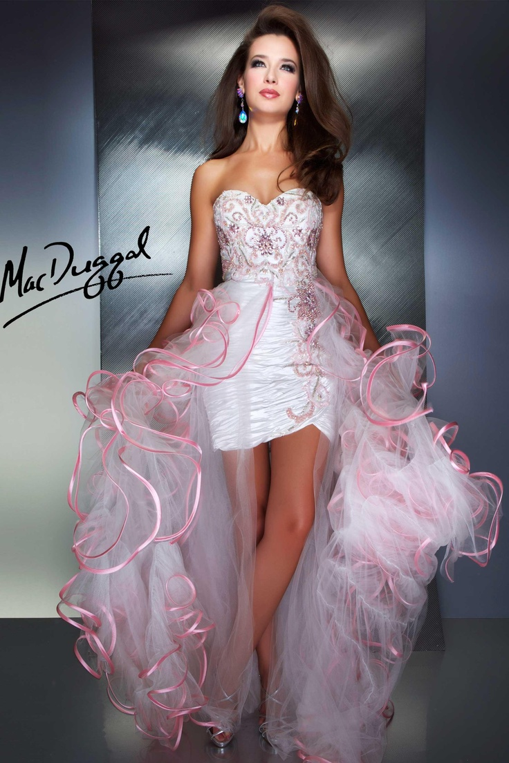 Prom Dress with Pink Ruffles