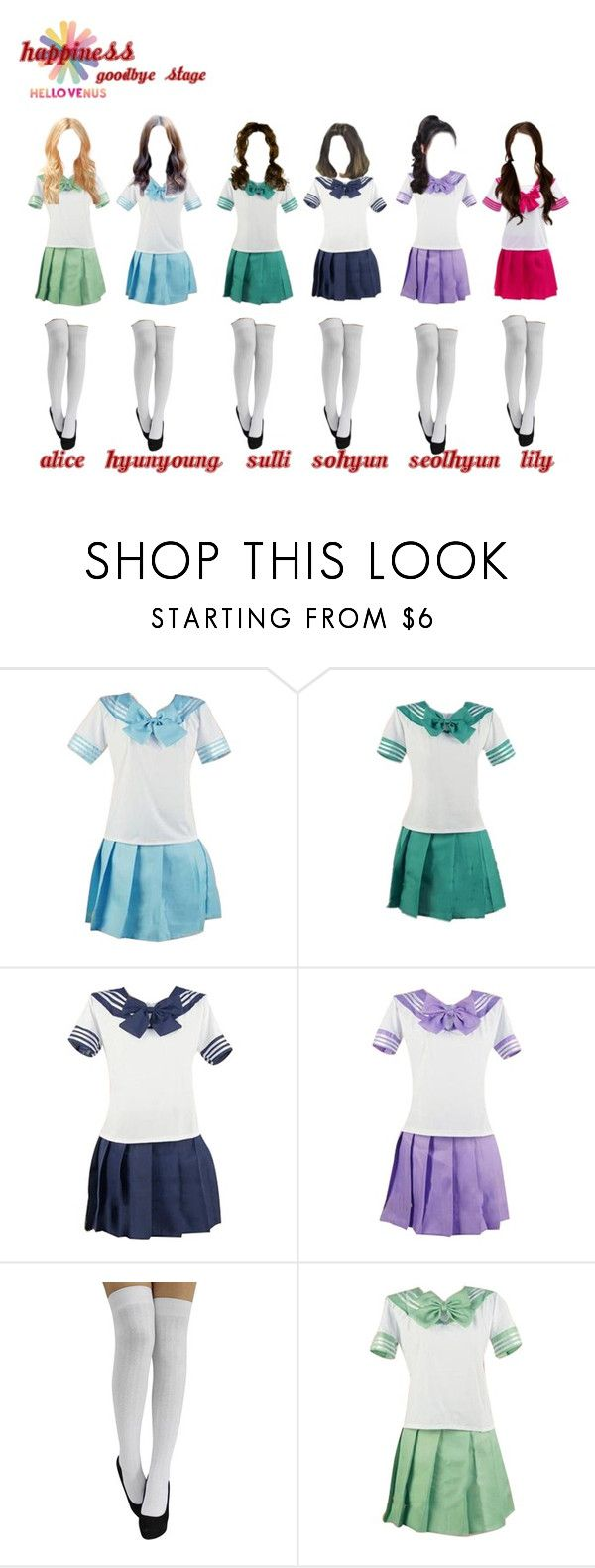 """""""Hello Venus! Happiness! 2013 goodbye stage"""" by kpopgroups101 ❤ liked on Polyvore"""
