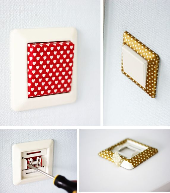 Interruptores con washi tape, http://www.morningcreativity.com/