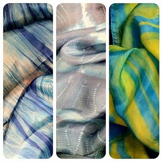 Hand dyed silk scarves by Pika Art: Dyed Silk, Silk Paintings, Pika Art, Hands Dyed, Silk Scarves, Future Career