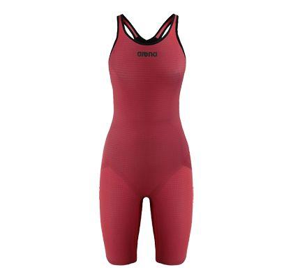Women competition swimwear: Arena's Powerskin Carbon-Pro Full Body Short Leg Closed Suit.