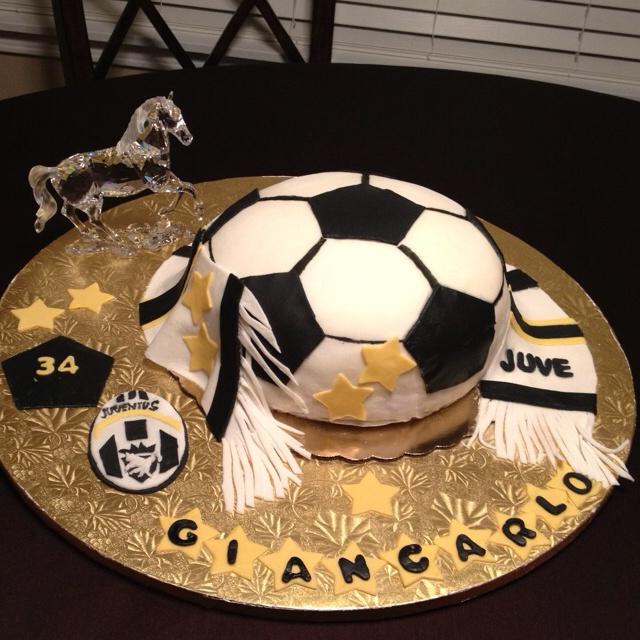 Juventus Soccer Ball cake