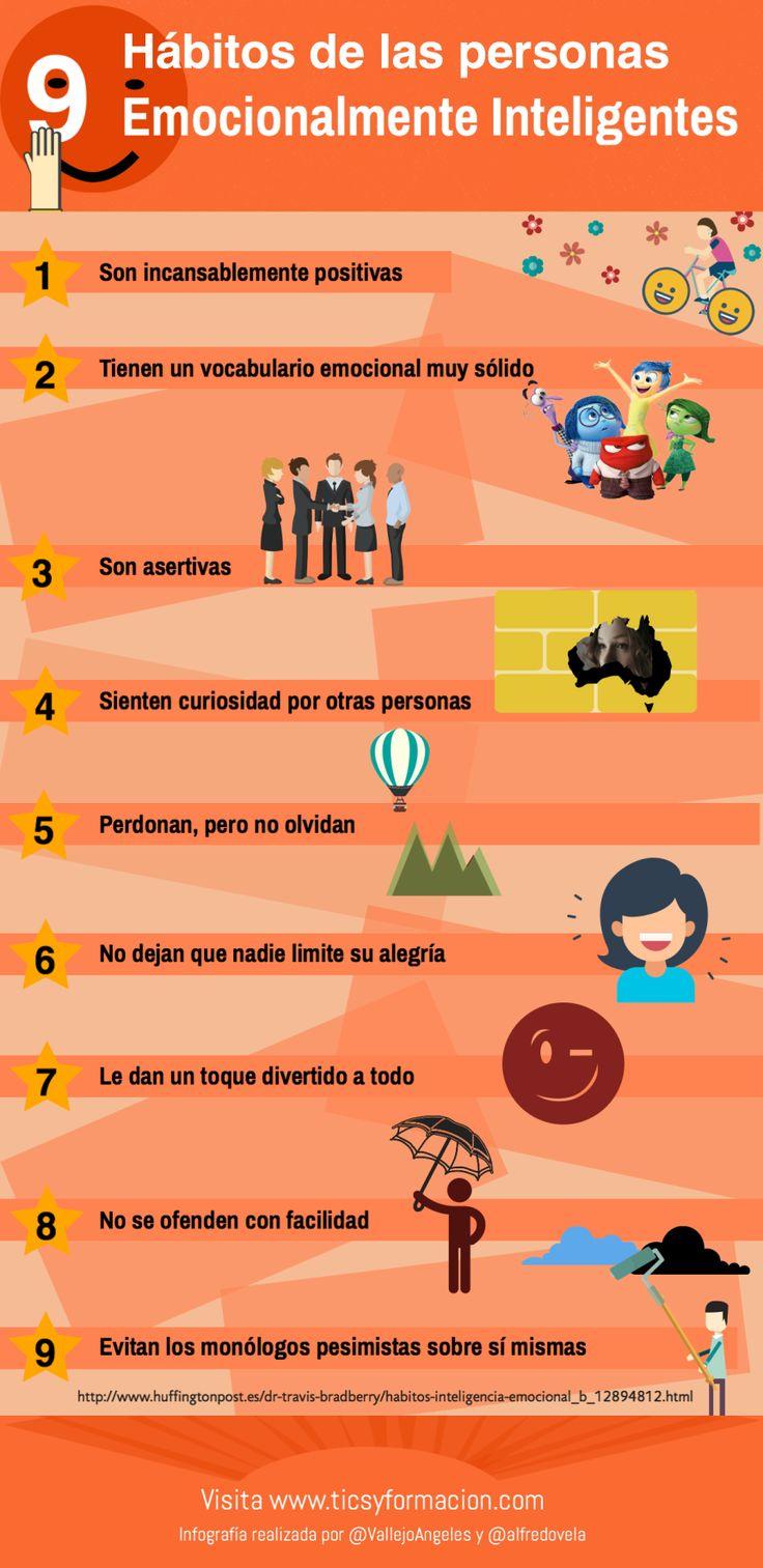 9 hábitos de las personas Emocionalmente Inteligentes #infografía