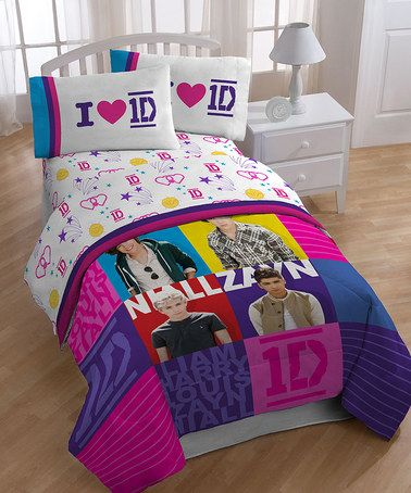 One Direction Patchwork Twin Bedding Sheet Set
