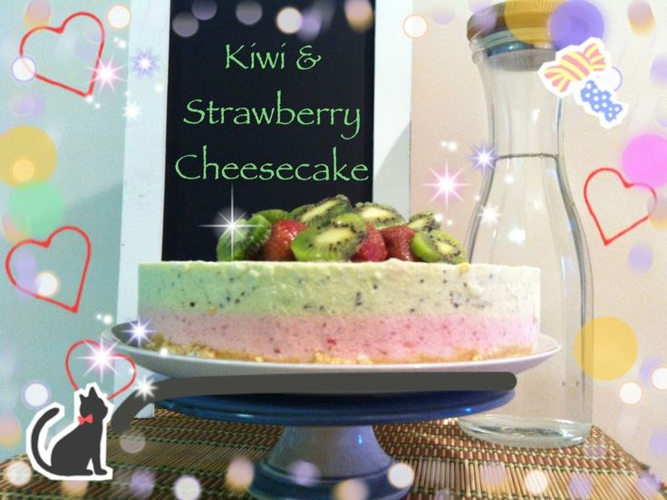 How To Make Kiwi & Strawberry Cheesecake for mother's day