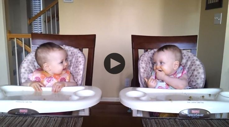 This video proves that some things are impossible to watch without smiling. We love the adorable bond these little twins share...