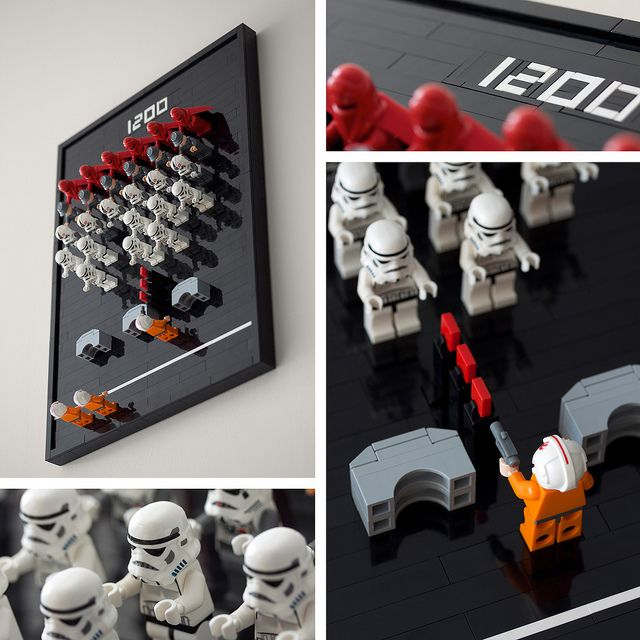Space Invaders (Detail) by powerpig, via Flickr - Lego art