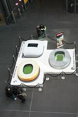 Berlin hauptbahnhof. Euro2012 Stadiums :) My pic!