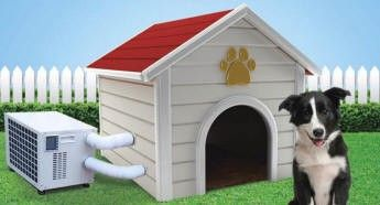 Best climate control appliance for air conditioned dog houses  Have your dog started spending the summer days lying in your bathtub? Is your dog getting cough and cold for drinking too much of cold water? May be it is time that you start looking forair conditioned dog houses. Well, wait a second. Do you already have a dog house? Great, all you need is just a climate controlling appliance.