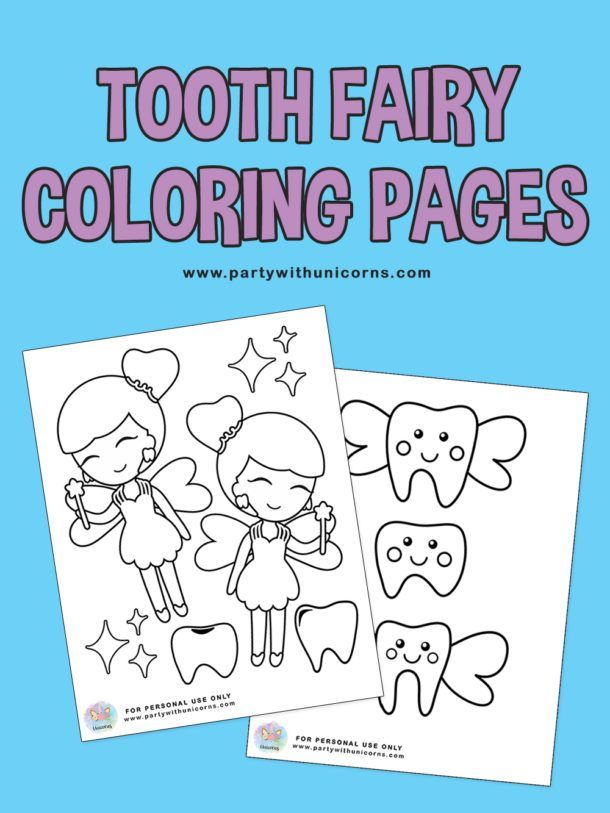 Tooth Fairy Coloring Pages Free Download Toothfairyideas In